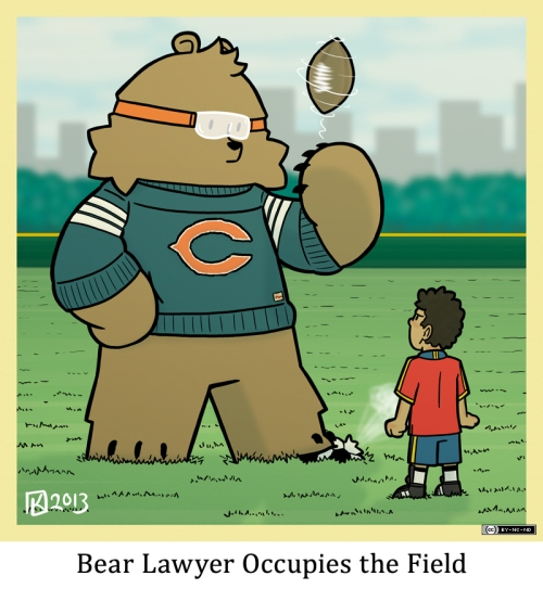 Bear Lawyer Occupies the Field