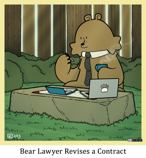 Bear Lawyer Revises a Contract