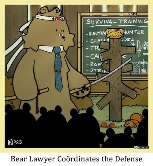 Bear Lawery Coördinates the Defense